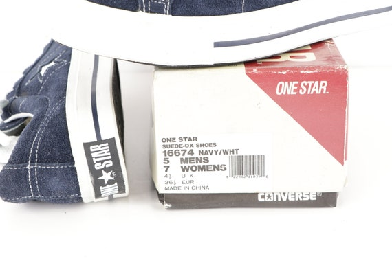 90s NOS Deadstock Converse One Star Suede Ox Snea… - image 7