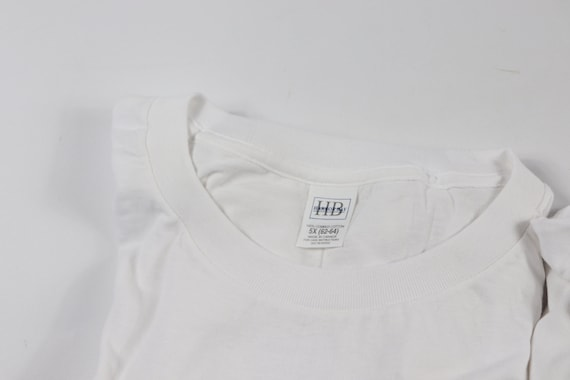 90s New Lot of 2 Blank Single Stitch Short Sleeve… - image 2