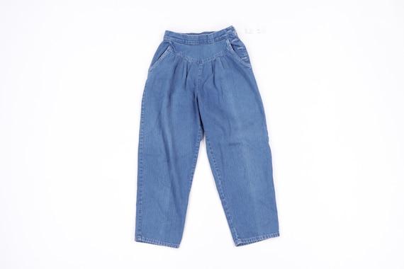 80s Levis Juniors Distressed Striped Tapered Leg M