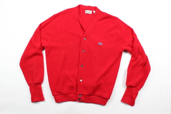 Acrylique Rouge Etsy 80 Lacoste Grand Mens Vintage S Pull vwfqxgf46