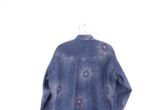 70s Rockabilly Starburst Western Pearl Snap Butto… - image 6