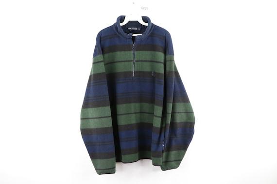 90s Nautica Multi-Color Striped Color Block Fleece