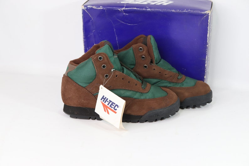 Kids Hiking Boots Hi Tec 90s New Hi Tec Youth 4 Topaz Jr Suede Leather Outdoor Trail Hiking Boots Vintage Hiking Boots Vintage Hi Tec