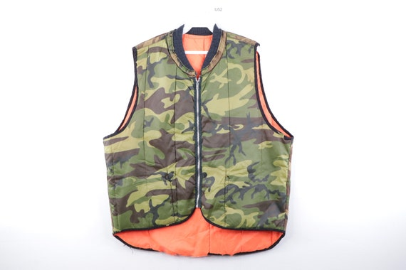 90s Streetwear Reversible Tactical Camouflage Puff