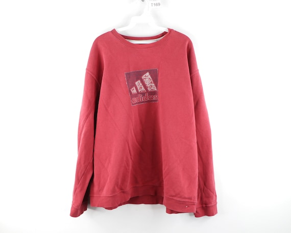 90s Adidas Distressed Faded Spell Out Crewneck Swe