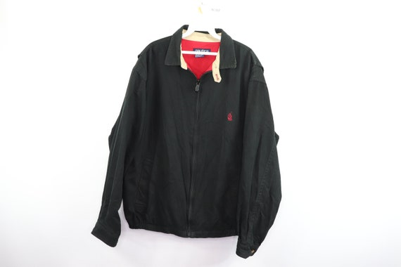 90s Nautica Spell Out Sailboat Full Zip Canvas Bom