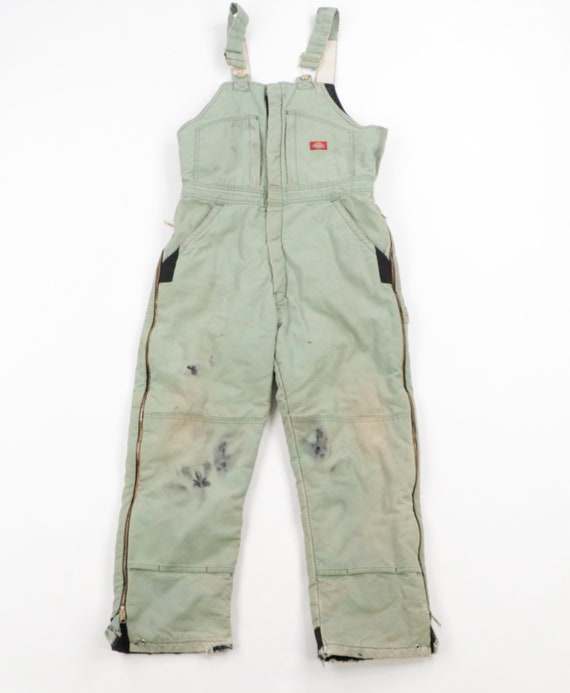 90s Dickies Spell Out Insulated Acid Wash Heavily