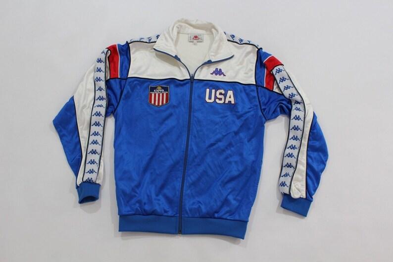 7602de5bfd 80s Kappa 1984 Olympics USA Track and Field Athlete Worn Warm Up Suit  Jacket Joggers Mens Medium Blue, Vintage Kappa Jacket, 80s Kappa Pants