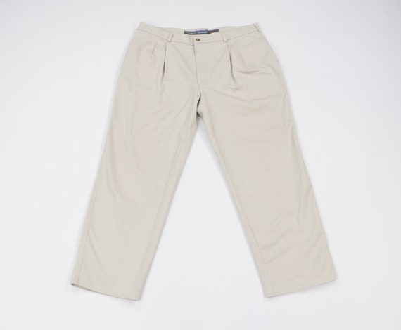 90s Duxbak Spell Out Pleated Chinos Chino Pants Kh