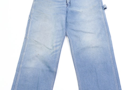 70s Sears Distressed Faded Carpenter Denim Jeans … - image 3