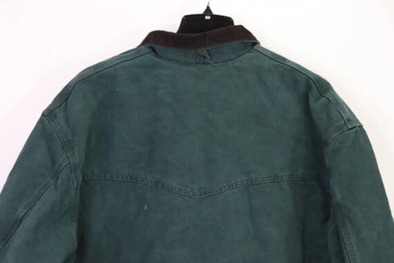 90s New Carhartt Mens Lined Corduroy Collar Chore… - image 9
