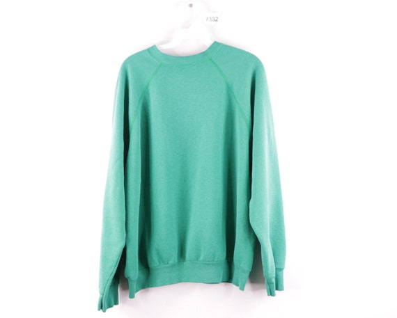 90s Streetwear Blank Boxy Fit Crewneck Sweatshirt
