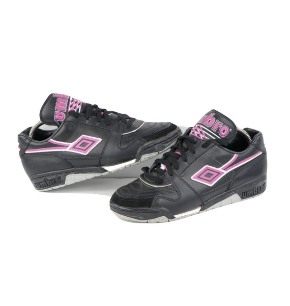 90s NOS Deadstock Umbro Spell Out Leather Indoor S