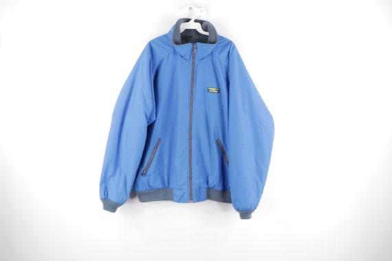 90s LL Bean Spell Out Box Logo Fleece Lined Warm U