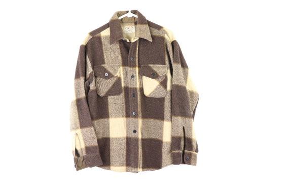 70s Wool Double Pocket Rockabilly Board Shirt Jack
