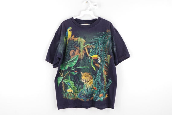 90s Streetwear Jungle Rainforest All Over Print Fa