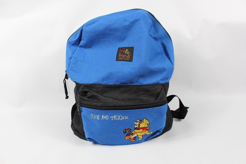 338c749a6f55 90s Winnie The Pooh Tigger Spell Out Nylon Backpack Book Bag