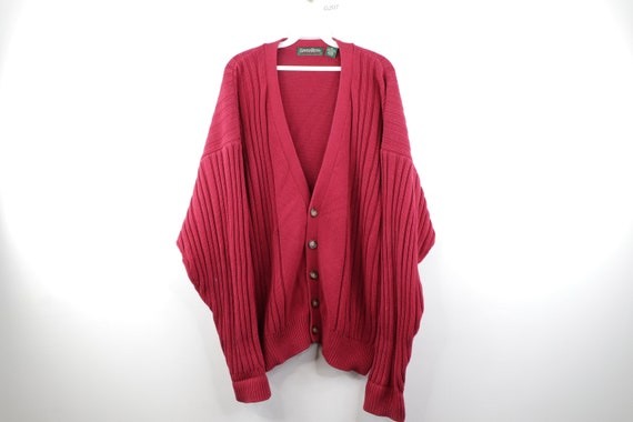 90s Streetwear Long Sleeve Cable Knit Button Cardi