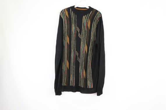90s Coogi Style Biggie Smalls Multi-Color Striped