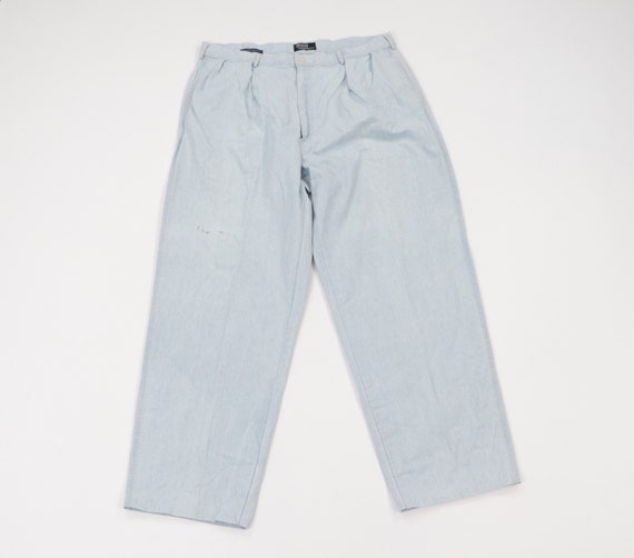 90s Ralph Lauren Spell Out Pleated Chambray Golf C