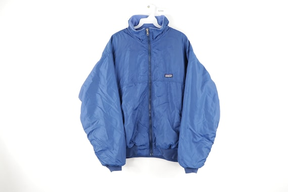 90s Patagonia Spell Out Box Logo Fleece Lined Bomb