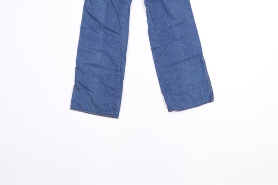 70s Streetwear Distressed Wide Leg Flared Denim J… - image 3