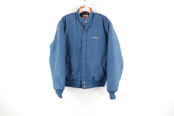 80s Budget Rental Car Spell Out Insulated Bomber J