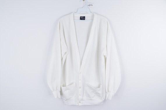 NOS 60s Streetwear Blank Long Sleeve Cardigan Swea