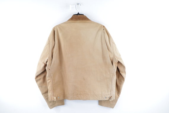 90s Carhartt Spell Out Distressed Faded Corduroy … - image 9