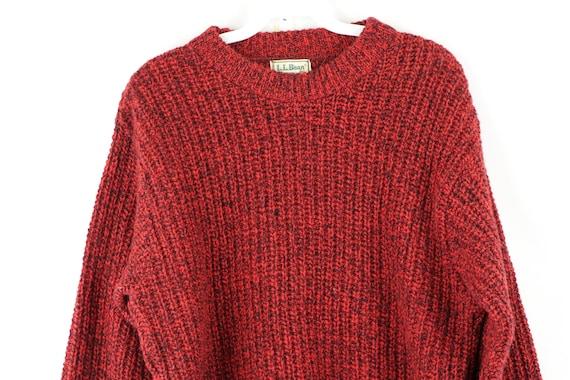 80s LL Bean Wool Knit Long Sleeve Crewneck Sweate… - image 2