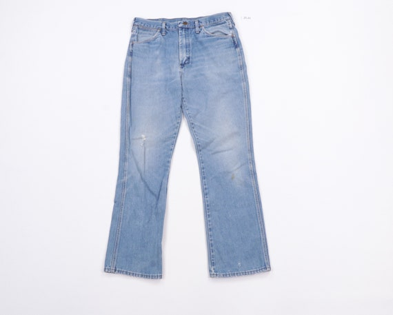80s Wrangler Distressed Faded Bootcut Denim Jeans