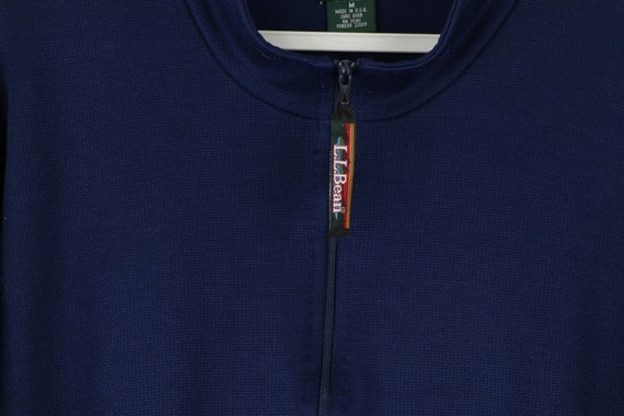90s LL Bean Long Sleeve Half Zip Thermal Sweater … - image 4