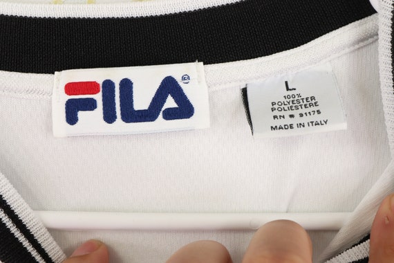 90s Fila Bjorn Borg Spell Out Long Sleeve Shirt T… - image 5