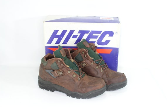 90s New Hi Tec Mens 10 Aspen Leather Outdoor Trail