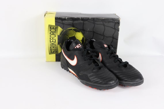 90s New Nike Firestrike Spell Out Indoor Turf Soccer Shoes Trainers Black Orange Mens, 90s Nike, 90s Nike Shoes, 90s Nike Soccer, 90s Soccer