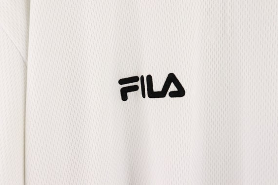 90s Fila Bjorn Borg Spell Out Long Sleeve Shirt T… - image 4