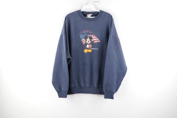 90s Walt Disney World Mickey Mouse USA Flag Faded