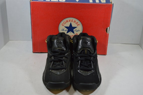 Vintage 90s New Converse All Star Recruit Mid Men… - image 2