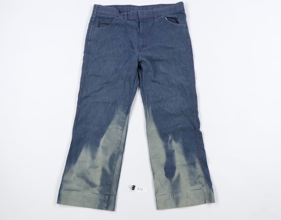 80s Sears Sportabouts Sun Faded Flames Denim Jeans
