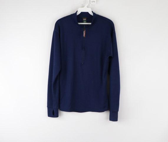 90s LL Bean Long Sleeve Half Zip Thermal Sweater N