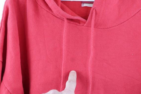 90s Streetwear Distressed Faded Blank Hoodie Swea… - image 8