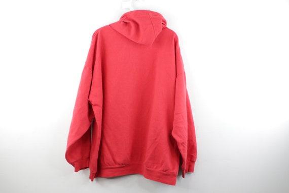 90s Streetwear Distressed Faded Blank Hoodie Swea… - image 5