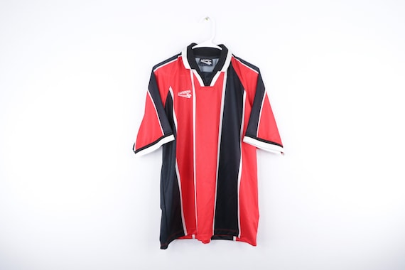 90s Lanzera Soccer Spell Out Striped Color Block S