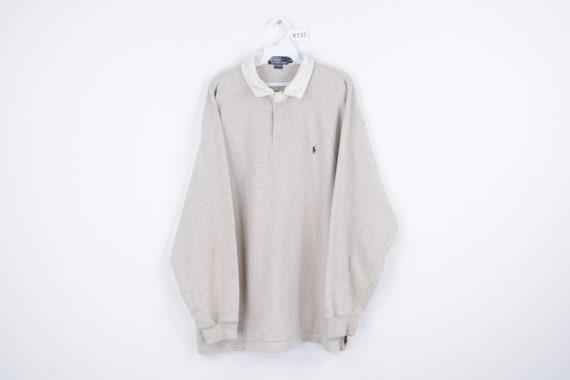 90s Ralph Lauren Long Sleeve Rugby Polo Shirt Heat