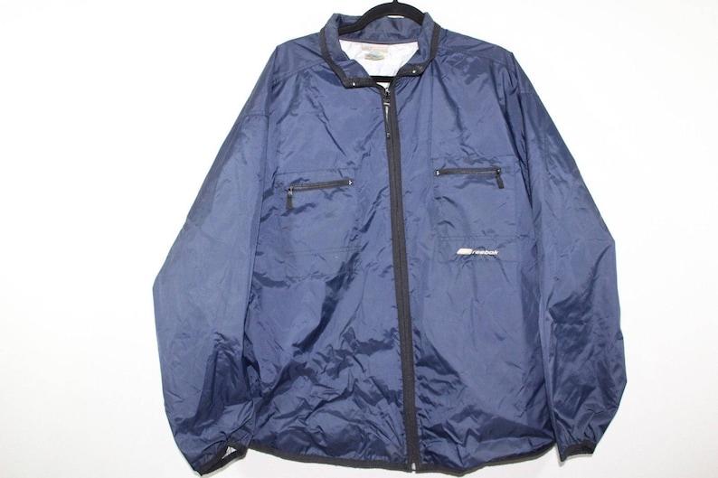 ea4a6f0a58b53 90s REEBOK Spell Out Full Zip Lightweight Windbreaker Jacket Mens Medium,  Vintage Reebok Jacket, Vintage Reebok, 90s Jacket, 90s Coat Blue