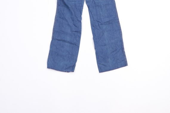 70s Streetwear Distressed Wide Leg Flared Denim J… - image 7