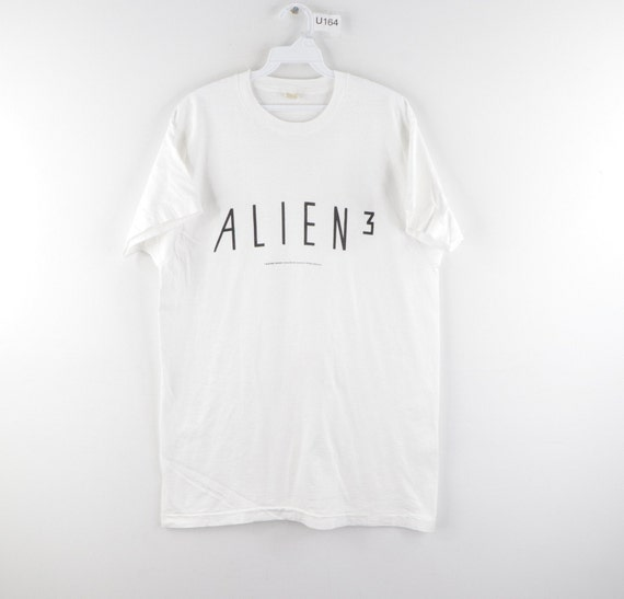 1992 Alien 3 Science Fiction Spell Out Movie T-Shi