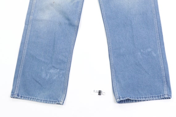 70s Sears Distressed Faded Carpenter Denim Jeans … - image 4