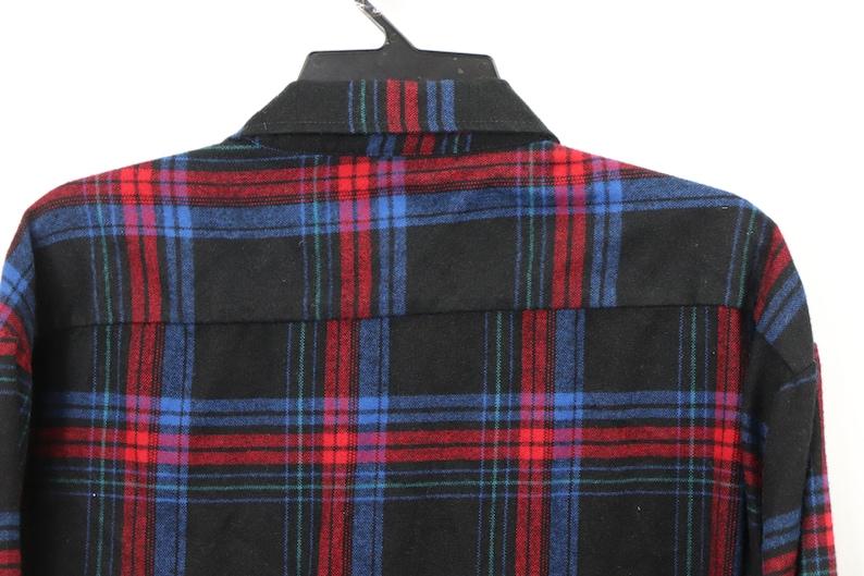 Vintage Plaid Shirt 80s Saugatuck Drygoods Mens 2XL XXL Rockabilly Plaid Board Shirt Blue 80s Rockabilly Shirt Plaid Shirt, 80s Shirt