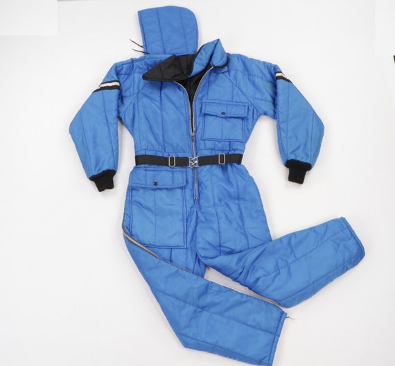 80s JCPenney Insulated Hooded Snowmobile Suit Snow